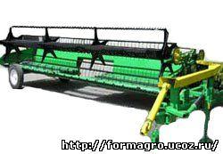 ЖВП - 6,4 жатка валковая прицепная предназначена для скашивания в валок зерновых культур средней и малой урожайности в степной зоне для для более оптимальной загруженности высокопроизводительных комбайнов. Жатка обеспечивает: - укладывание валка хорошего качества и оптимальной мощности; - высокую продуктивность работы на скашивание и на подбор; - облегчение условий труда механизатора Применение прицепной жатки ЖВП – 6,4 позволяет: - снизить затраты на раздельную уборку; - освободить часть комбайнов от работы с валковыми жатками; - более оптимально загрузить транспортный парк. Отличительные особенности: - ременно-планчатыми транспортерами; - МКШ механизмом качающей шайбы; - имеет приспособление для быстрого и удобного перехода в рабочее и в транспортное положение; - улучшенная система агрегатирования обеспечивает плавный ход и точное копирование рельефа поля;